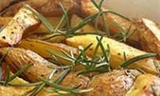 Fırında Kabuklu Patates Dilimleri